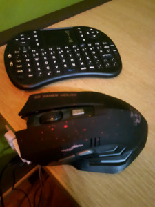 Wireless gamer mouse and keyboard
