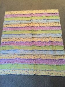 Strip Rag Quilt
