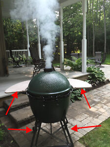 XL Big Green Egg Stand, Cover and Side wings