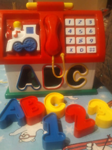 ABC123 School house learning toy