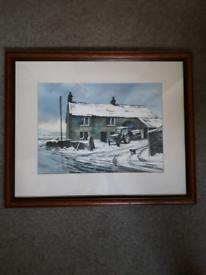 Winter watercolour/print. Hade Edge