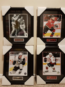 "Ali, Crosby, Phaneuf and Iginla Framed Pictures 10"" x 14"""