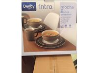 Denby Intro mocha 15 piece boxed set