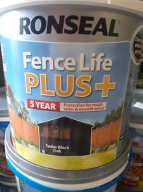 Ronseal fence life plus black