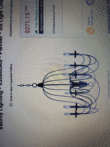 New 6 light Chandelier