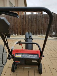 Electric snow blower.