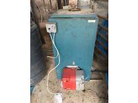 Warmflow 150 bluebird oil boiler and burner