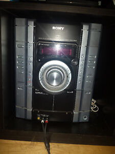 sony mhc gx450 how to play mp3