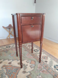 Bombay wood side table or night stand.