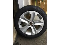 "BMW X6 E71 19"" staggered alloy wheels and winter tyres"