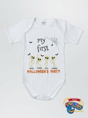 BODY NEONATO NEONATA MY FIRST HALLOWEEN PARTY IDEA REGALO DIVERTENTE - Baby's First Halloween Ideas