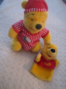 Winnie the Pooh plush and Puppet