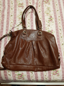 Brown Coach Leather Bag