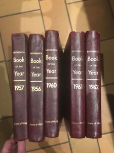 1956, 1957, 1958, 1959, 1960, 1961, 1962 Britannica of the Year