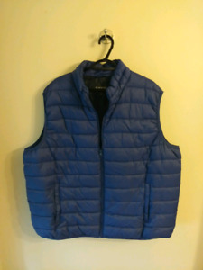 Mens Blue 2xl puffy vest