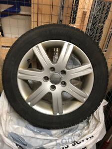 4 Mags Audi et pneus d'hiver Michelin X-Ice Xi3 205/55R16