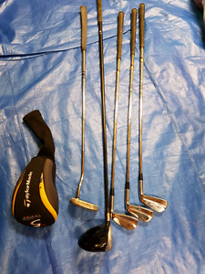 Taylor Made and Mizuno golf irons and driver