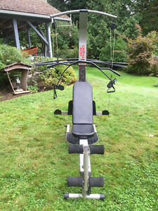 Bow Flex style exercise machine