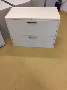 """lateral filing cabinets just like new 36"""" Teknion 2 drawer $200"""