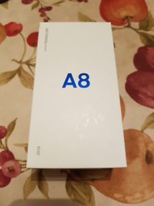 Samsung A8 32GB black colour brand new with 2 screen protectors