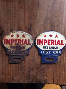 Vintage license plate toppers IMPERIAL TEST CAR