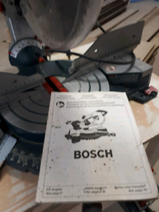 "BOSCH 12"" Dual Bevel Miter Saw"