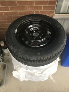 Set of 4 Dynamo Winter Tires+Rims 215/60R16 2 months used!