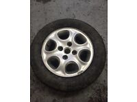 185/65/14 Tyre Alloy wheel