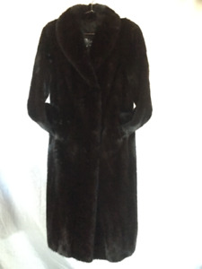 Ladies Male Black Ranch Mink Coat