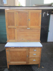 Antique Hoosier kitchen cabinet, newly refinished