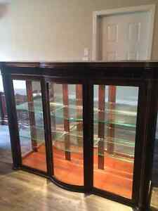 Solid wood hutch and buffet