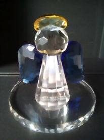 LED Candlelit Glass Crystal Angel cost £50! Viewing on garden table!!
