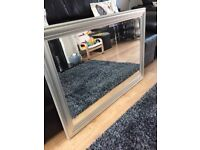 Lovely large silver mirror