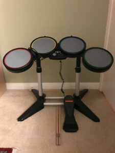 Rockband / Guitar Hero Drum Set + Microphone - Xbox360 - No Game