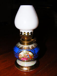 Vintage Porcelain Oil Lamp