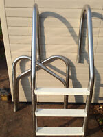 Pool  stainless steel wall ladder and stair side mounted rail