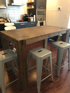 Gorgeous Wooden High Table for Dining Room / Kitchen