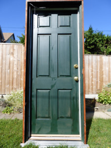 Complete Exterior Cedar Door  with Aluminum Storm Door