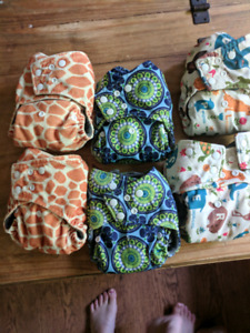 6 bamboo charcoal cloth diapers