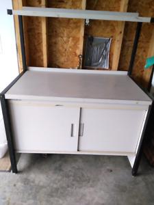 Sturdy metal storage and working desk