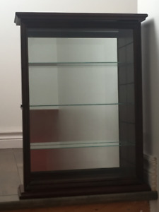 Good Condition Collectables Cabinet w/ Mirror Backing
