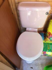 Pale pink toilet