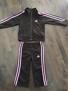 Pink & Brown Adidas Outfit, Size 2T