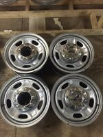"""4-17"""" Ford 8x170mm Steel rims with chrome centre caps"""