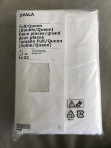 Ikea Dvala Double/Queen Duvet Cover + 2 pillowcases (unopened)