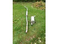 Corsa c 2005 1.2 exhaust system front to rear very good condition 07594145438