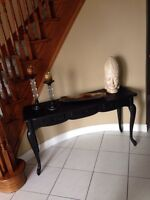 Elegant Foyer Table With Matching End Table