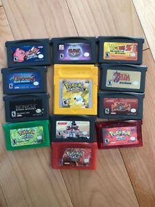 Gameboy Advance, Gameboy Advance SP et jeux Pokémon, Zelda, etc