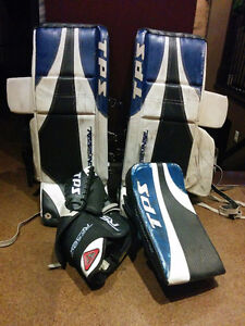 TPS Goalie pads with Blocker & Trapper