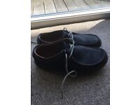 Men's shoes - Clark's - Blue Suede Casual - Size 10